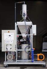 Vacuum load sodium silicofluoride skid m
