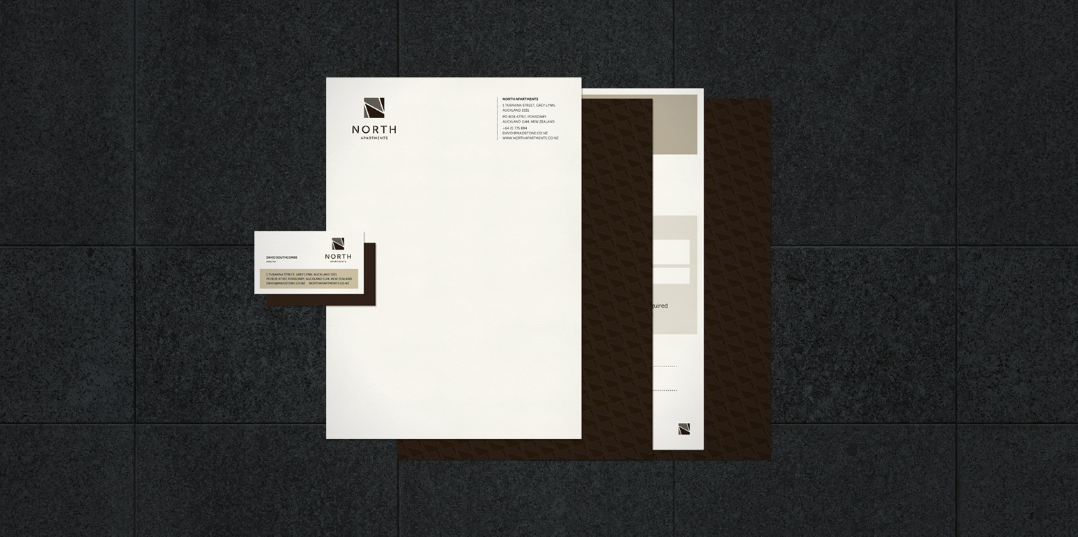 north apartments stationery
