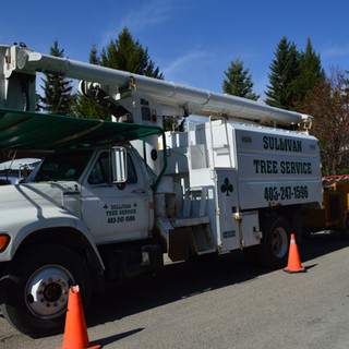 Equipment bucket truck cherry picker aer