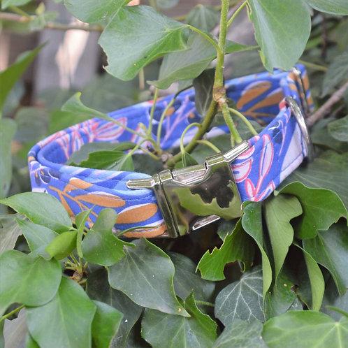 Collier palmettes bleu