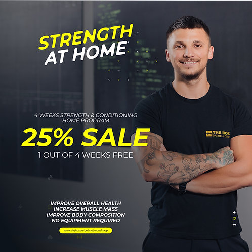 Strength at Home - 4 weeks