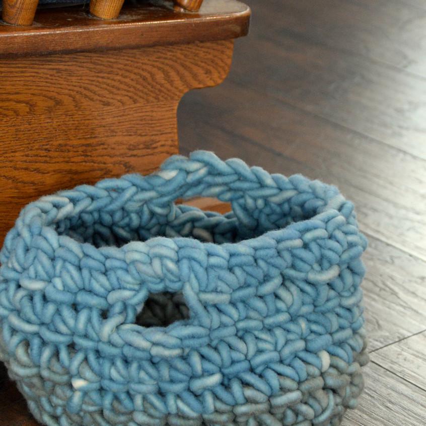 Crocheted Wool Basket