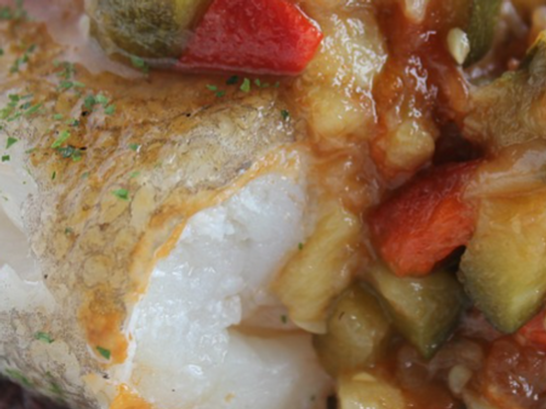 ROASTED VEGETABLES WITH COD