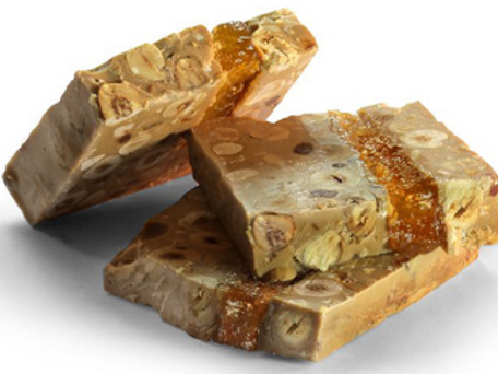 TURRON: Chocolate, caramel, hazelnuts and apricots