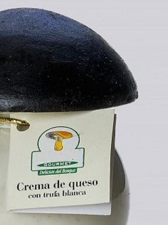 CREMA DE QUESO DE OVEJA CON TRUFAS BLANCAS