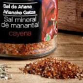 SAL MINERAL DE MANANTIAL DE AÑANA CON CAYENA