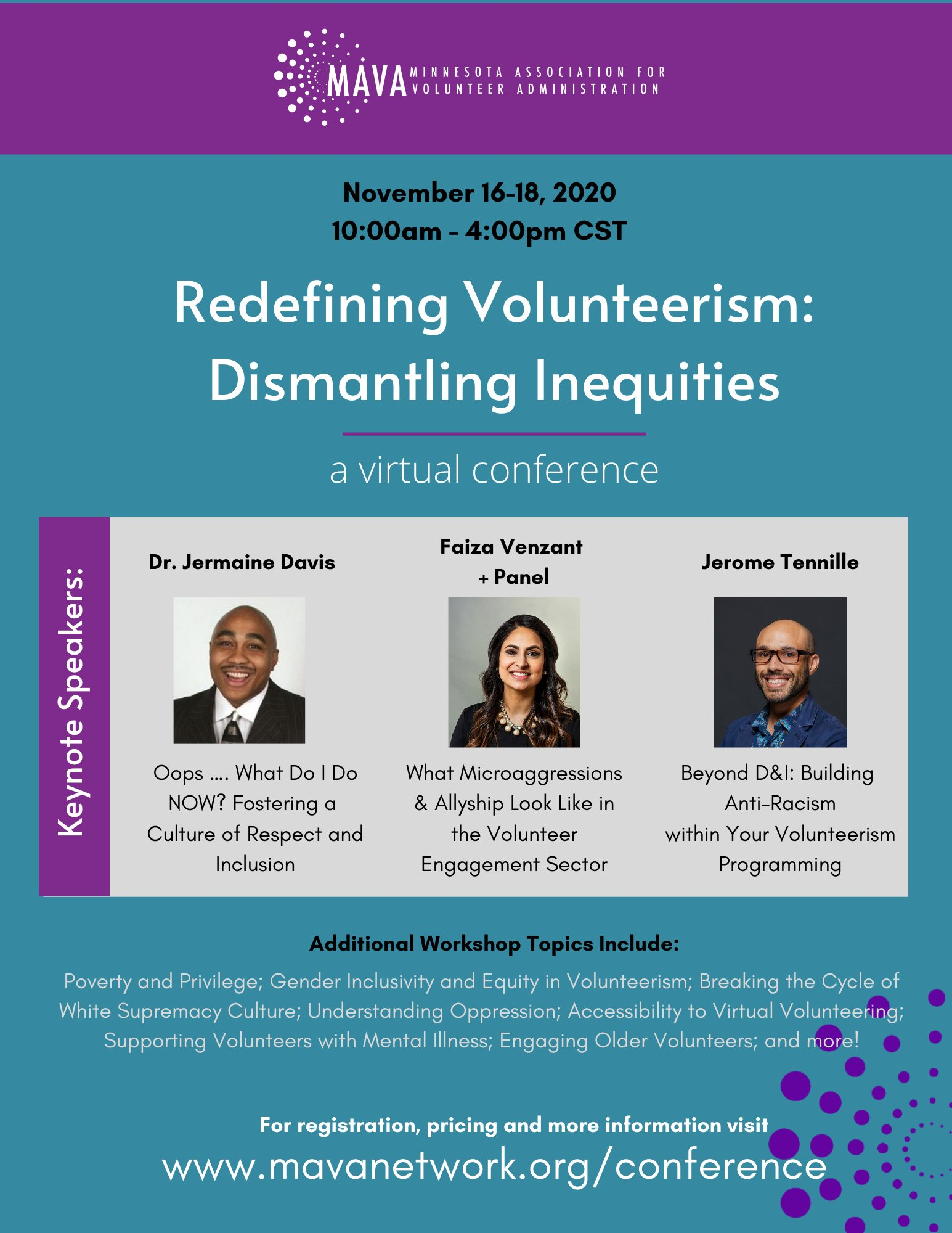 MAVA Conference Flyer 11-16-2020