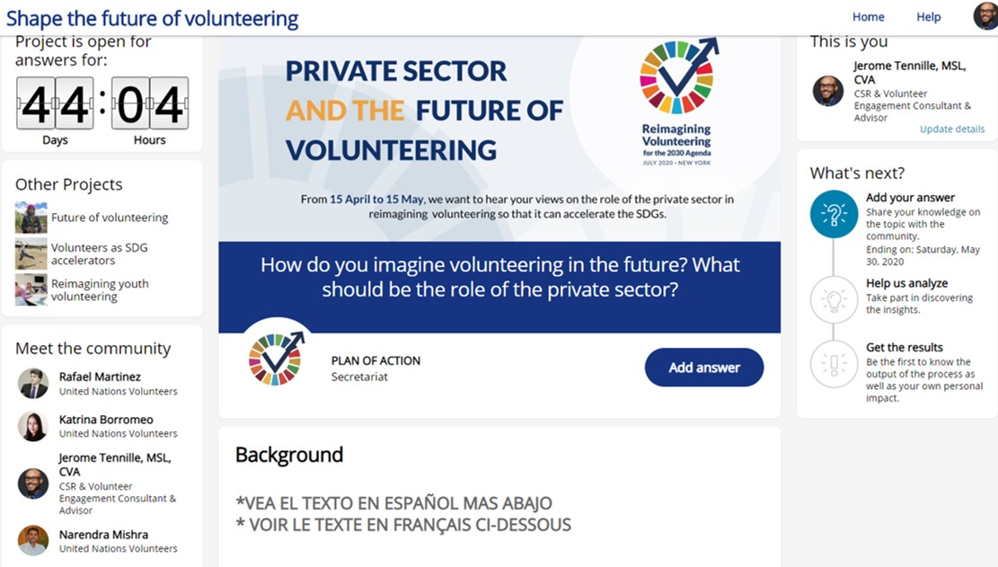 Reimagining Volunteering