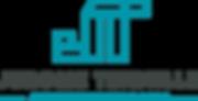 Jerome Tennille Logo vertical type teal.