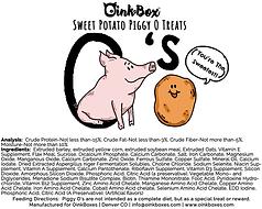 OinkBox sweet potato mini pig treats