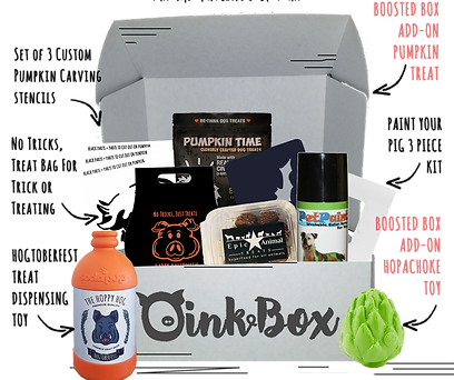OinkBox October 2018 Pig Pumpkin Patch Box