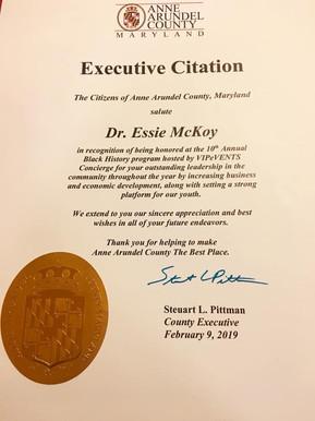 Essie McKoy Executive Citation.JPG