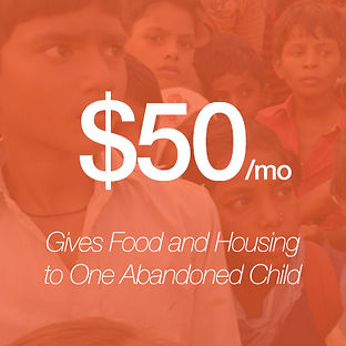Giving $50/month gives food and housing to an abandoned child