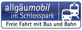 allgäumobil im Schlosspark Freier fahrt Bus undBahn