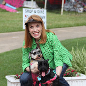 Laura-Henry-with-her-2-dogs-by-Leslie-Br