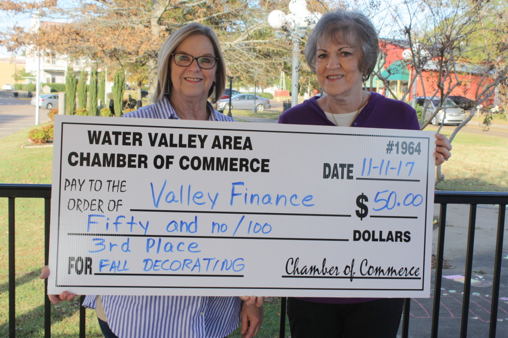3rd Place, $50 = Valley Finance