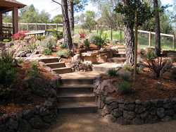 Steps and rock walls