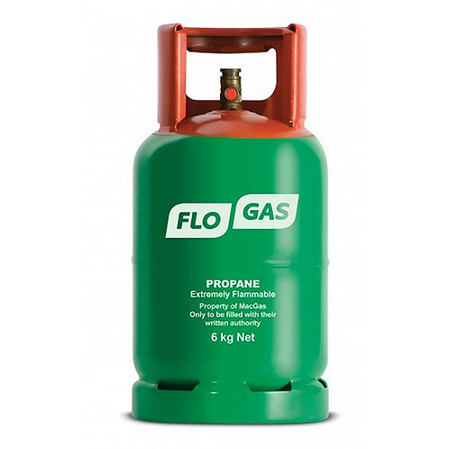 6kg Patio / Leisure Gas Cylinder including deposit (27mm Clip on Regulator)