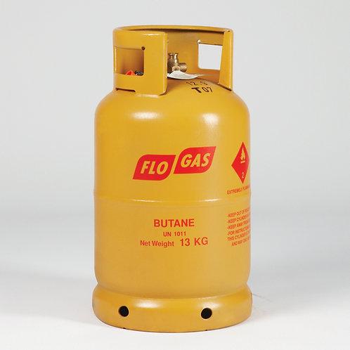 13kg Butane Gas including Cylinder deposit (20mm or 21mm Clip on Regulator)