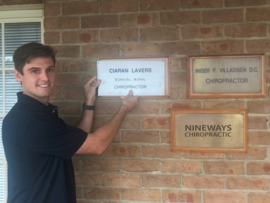 A big welcome to Ciaran Lavers in joining the Nineways Chiropractic Team