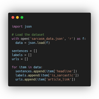 Sarcasm dataset - Tokenizing, Sequencing and Padding