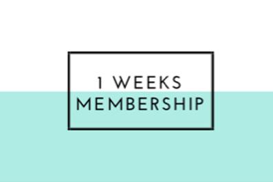 1 weeks membership