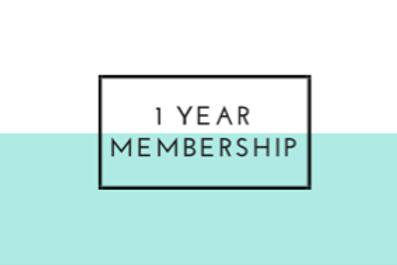 1 Year Membership Get months