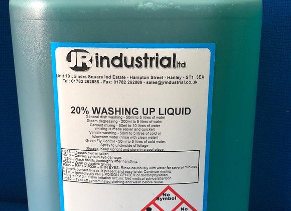 20% Washing Up Liquid 5Ltr