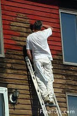Prep of an exterior paint project