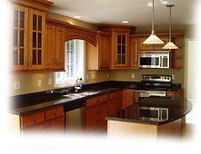 Kitchen example of cabinets