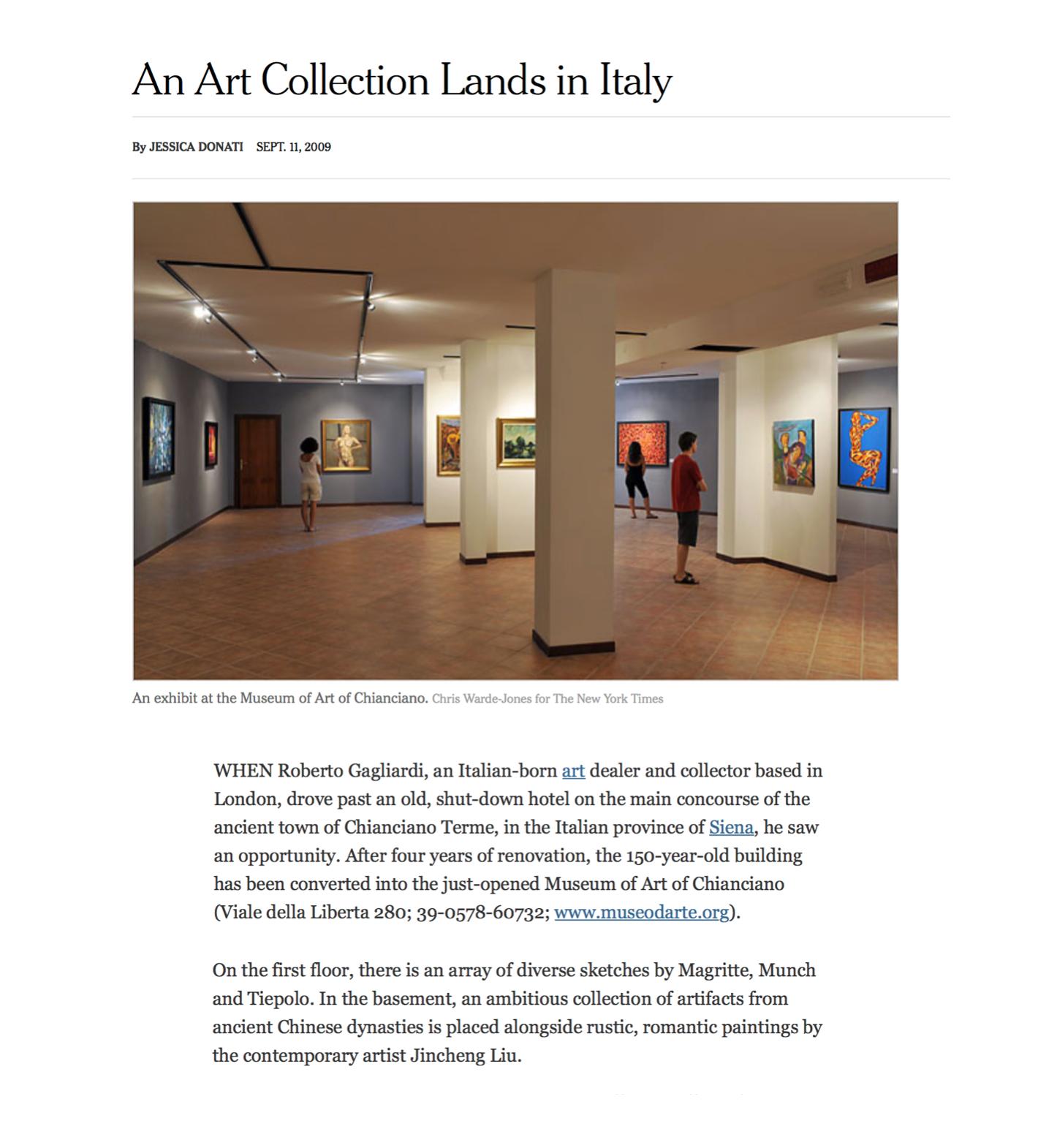 作品被收藏于意大利的一艺术博物馆