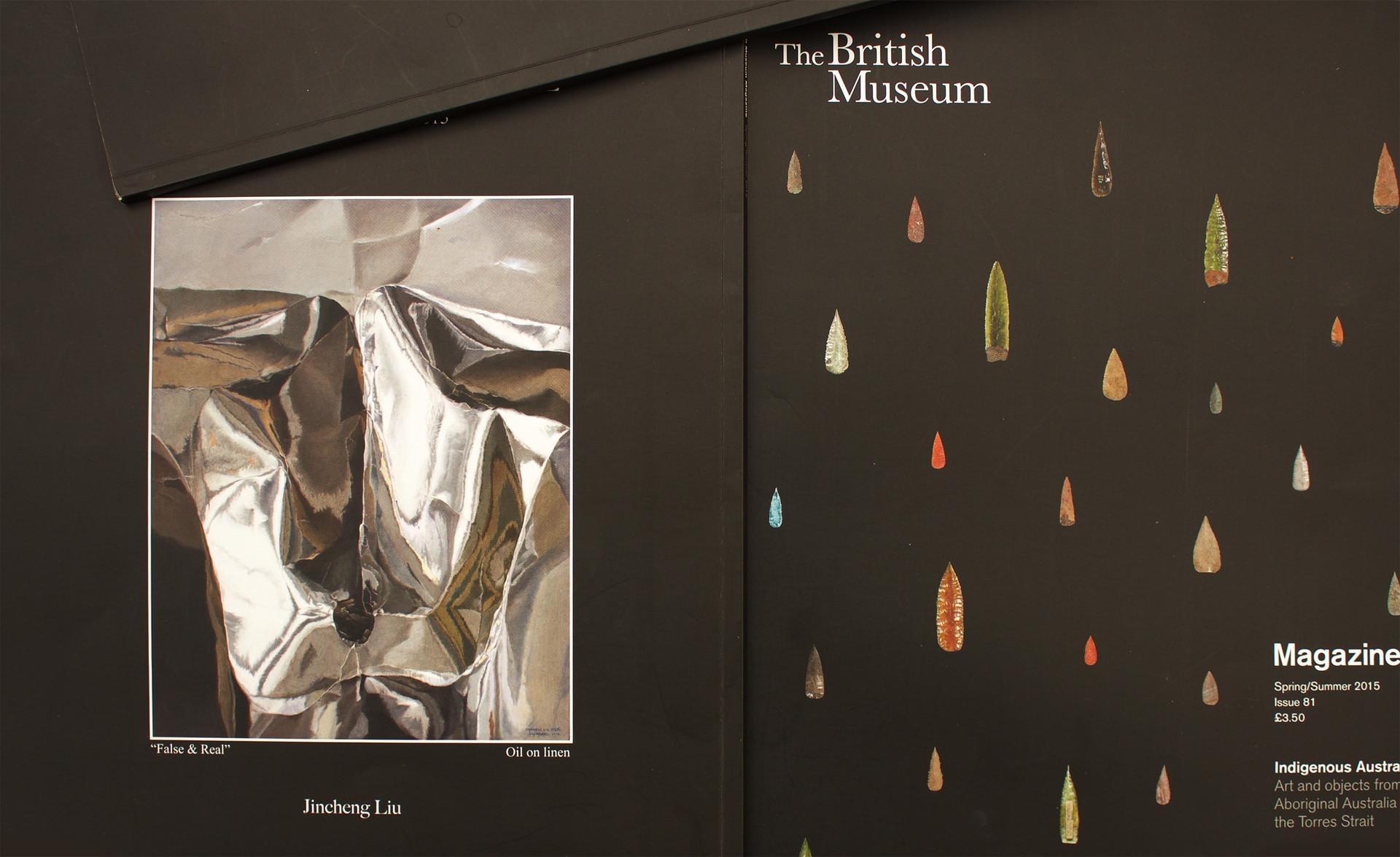 作品'假真系列19'刊登于大英博物馆杂志春夏季2015封地