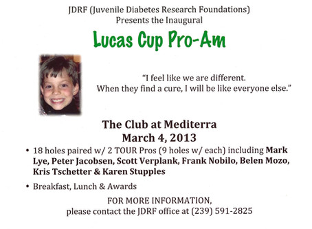 It's true...we are relaunching the Lucas Cup Pro-Am