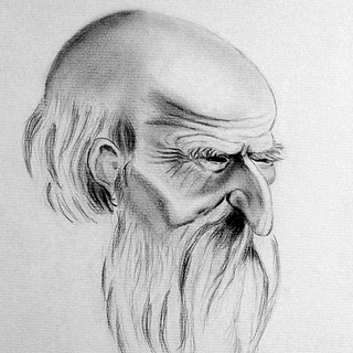 Vieillard, portrait inspiré d'Albrecht Dürer