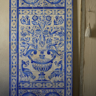 Imitation d'Azulejos portugais du XVIIe s.