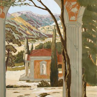 Paysage de Toscane façon Zuber,