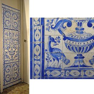 Imitation d'Azulejos portugais du XVIIe s. et détails