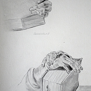 Etude de mains d'après Albrecht Dürer