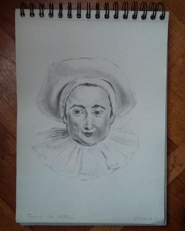 Pierrot d'après Watteau