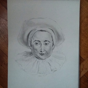 Pierrot inspiré de Watteau