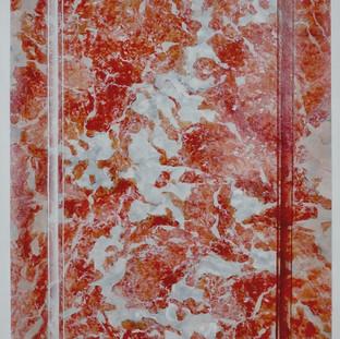 Imitation marbre : Rouge royal