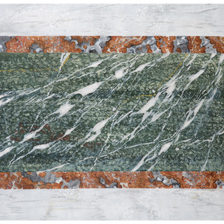 Imitation marbres : Campan vert, Rouge royal, Blanc veiné