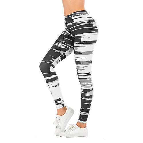 Women's Leaf Print Fitness Leggings  High Waist Leggings