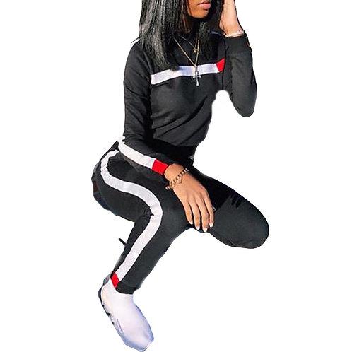 2 Piece Tracksuit  Sports top and  Pants Jogging Set
