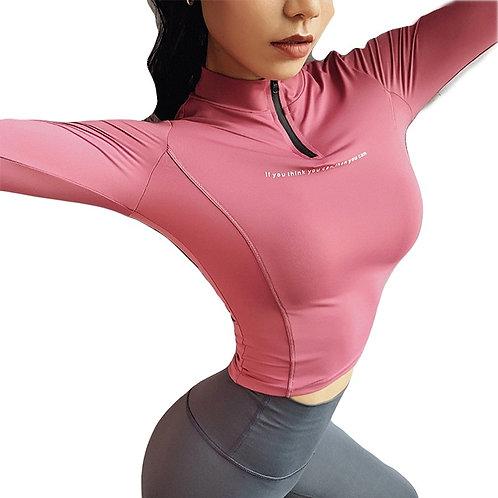 Long Sleeve Sweat top Fitness Yoga Gym Top Sports Wear
