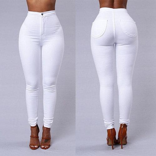 White Urban Style Fitness Leggings