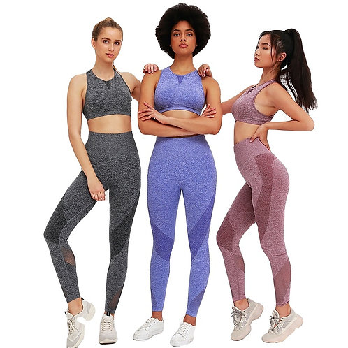 Sports Suit Yoga Sets Sleeveless Running Top and Leggings
