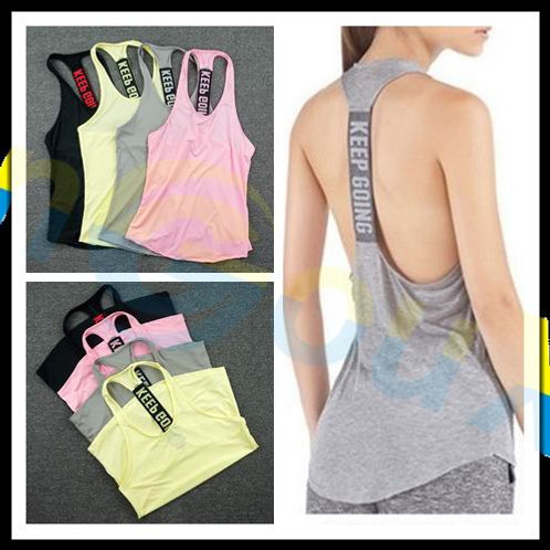Women Gym Sports Vest Sleeveless Shirt