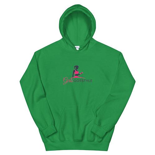 girls got style pink logo Hoodie