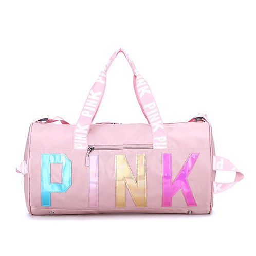 Pink Travel Bag Women Outdoor Sports Fitness Training Bags